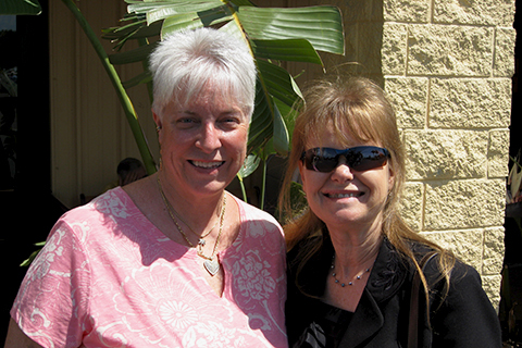 Lorene with her forever friend, Patti